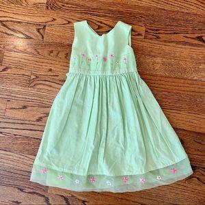 BLUEBERI BOULEVARD Dress Green Pink Floral 4T